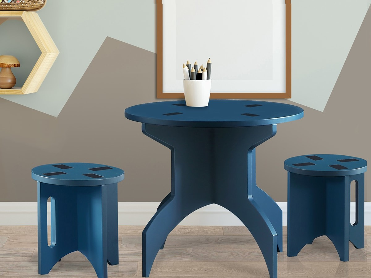 staxxiom™ flat-pack furniture is eco-friendly and doesn't require any tools for assembly