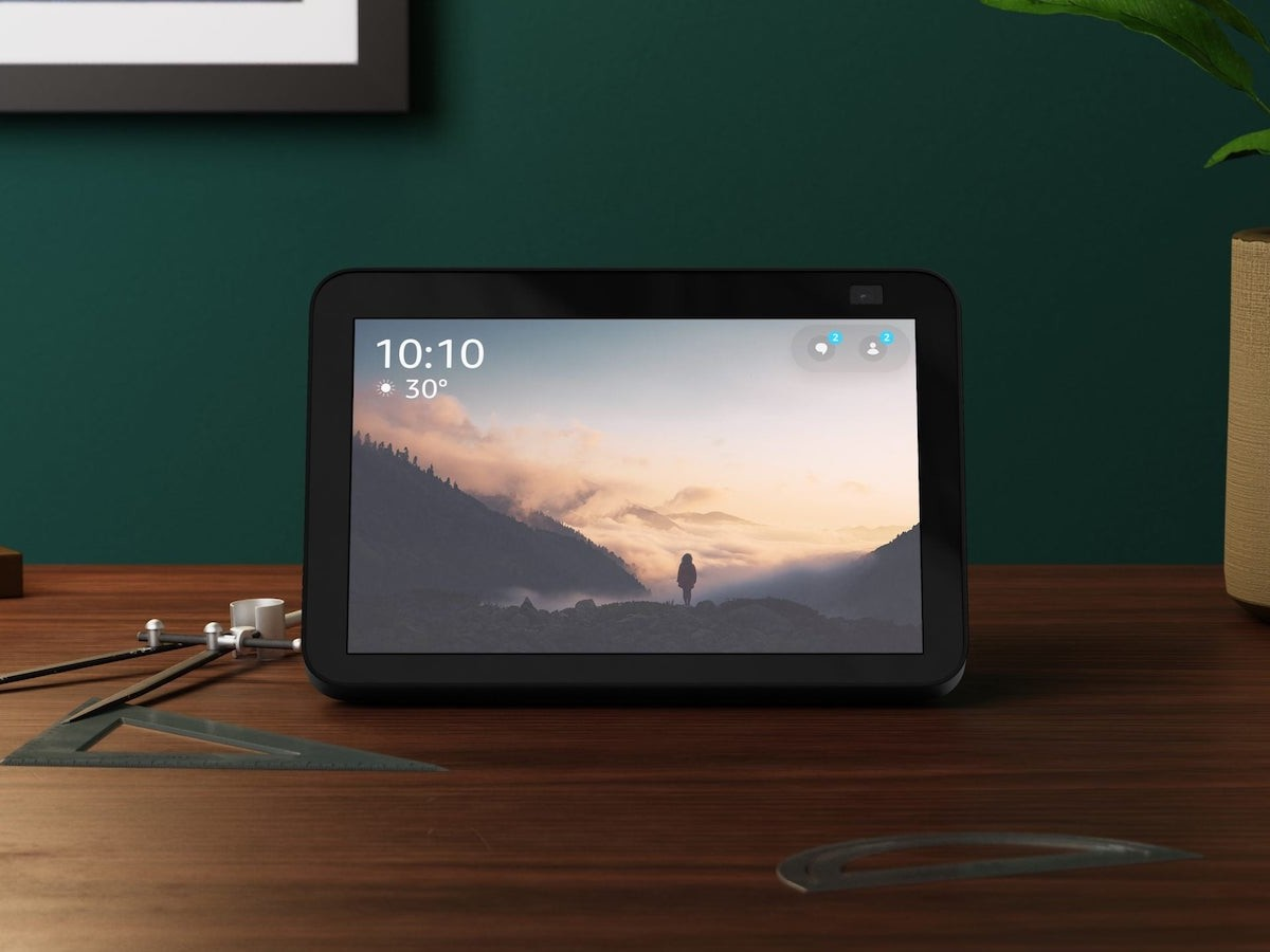 Amazon Echo Show 8 2nd-Gen smart display has stereo speakers and an 8″ display