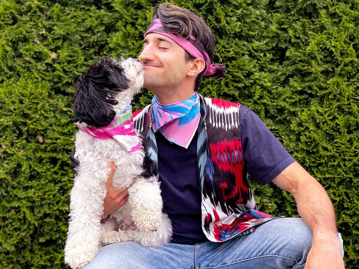 Banduzi dog and human bandanas let you match your pup in premium cotton and silk