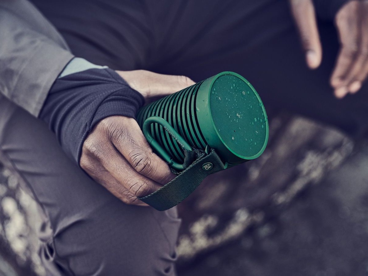 Bang & Olufsen Beosound Explore durable Bluetooth speaker has a waterproof shell
