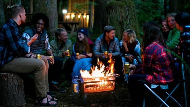 BioLite FirePit+ smokeless bonfire uses advanced airflow technology to create less smoke