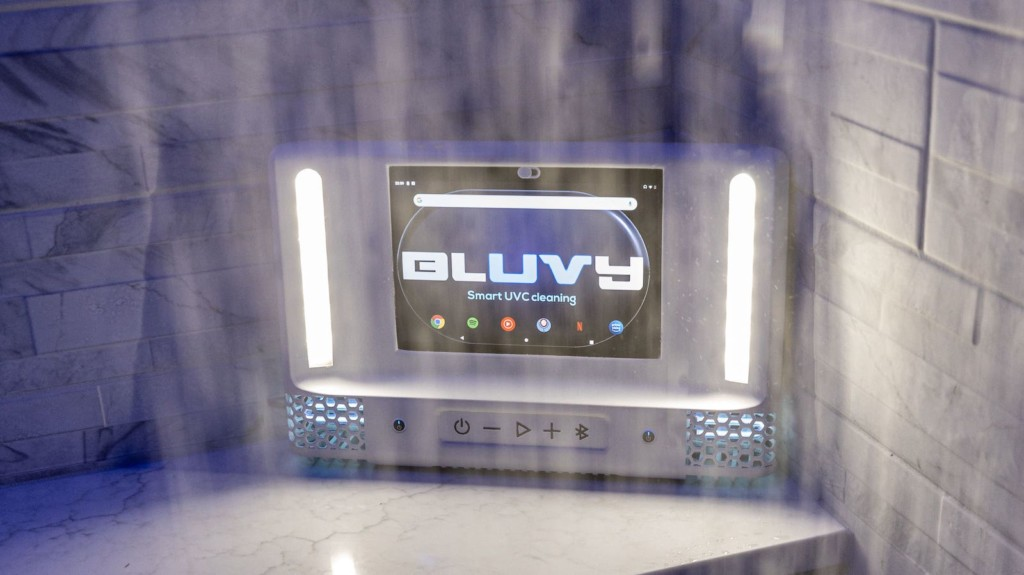 This intelligent shower mirror makes your shower even better Bluvy smart shower mirror