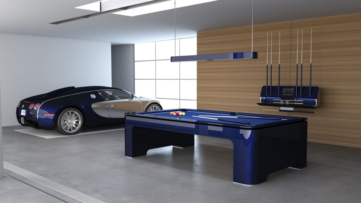 Bugatti launched a $300,000 pool table with gyroscopic self-leveling