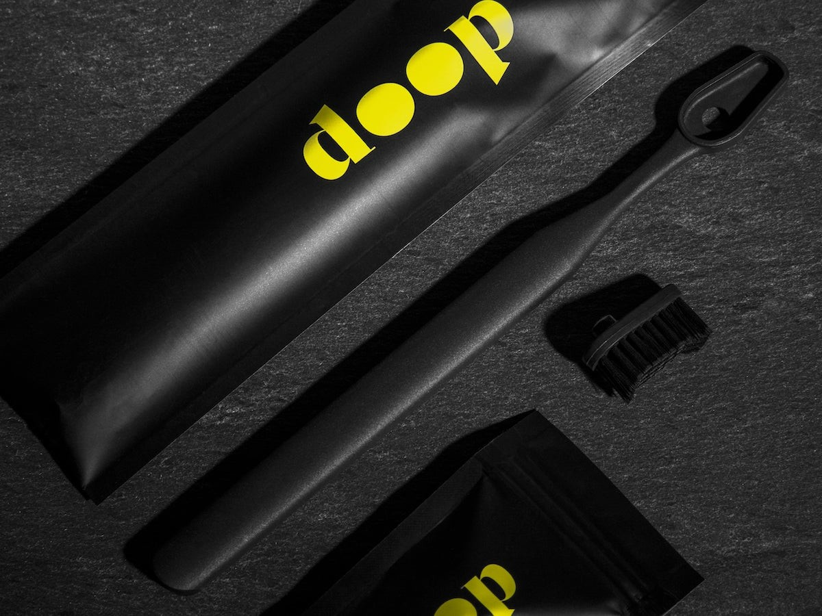 Doop head-removable & washable toothbrush is both recycled & recyclable for sustainability thumbnail