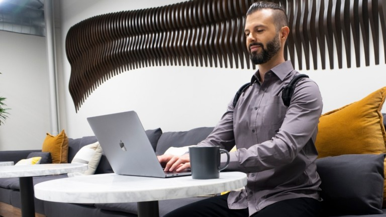 ERGO Posture Pro powerful posture support fixes your posture while you sit at your desk