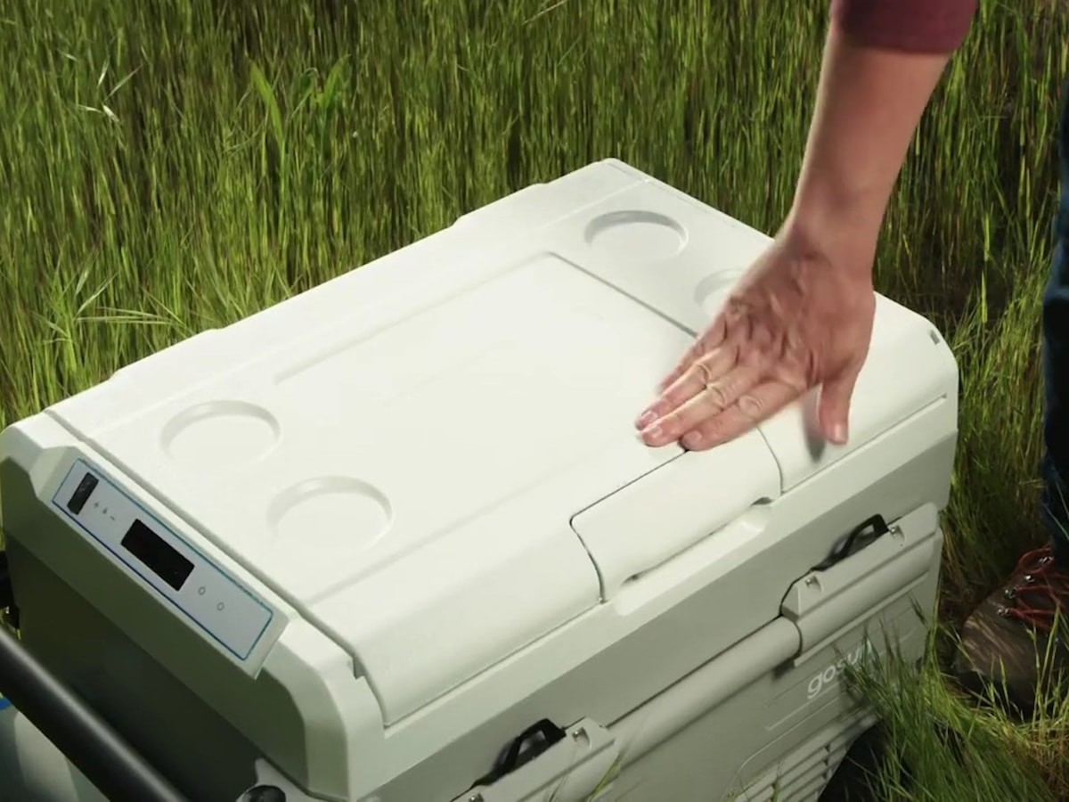 GoSun Chillest solar-powered cooler has a 20-watt solar panel and dual cooling zones