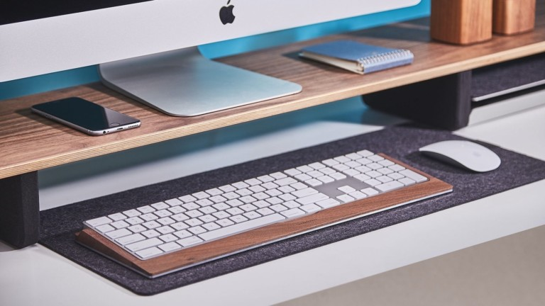 Grovemade Wood Keyboard Tray is a handy landing spot for your Apple wireless keyboard