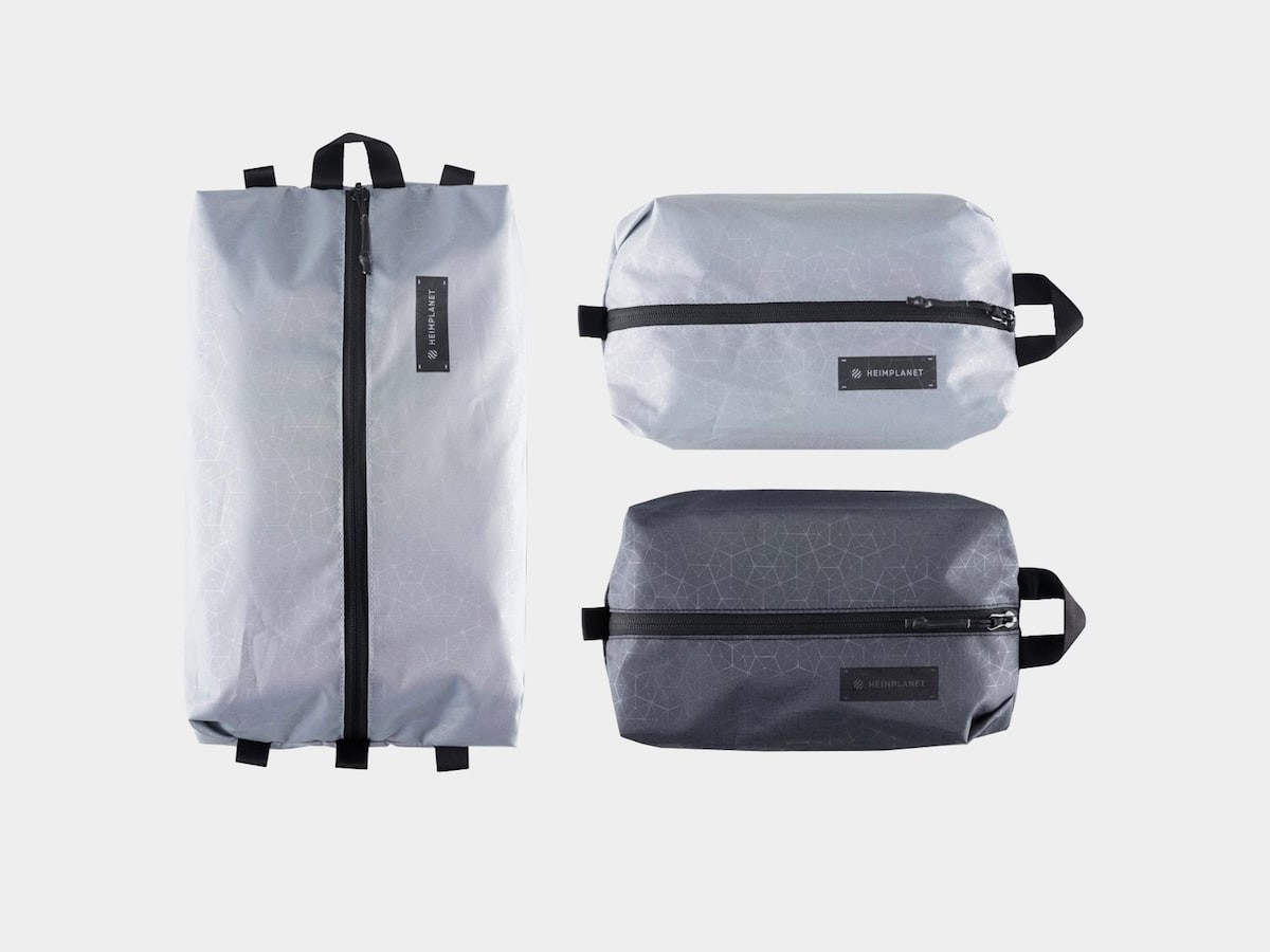 HEIMPLANET Packing Cubes help organize and store your belongings within a backpack