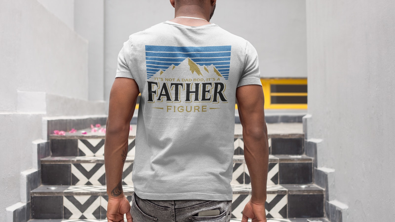 """""""It's Not a Dad Bod"""" beer lover shirt humorously touts that """"It's a Father Figure"""""""