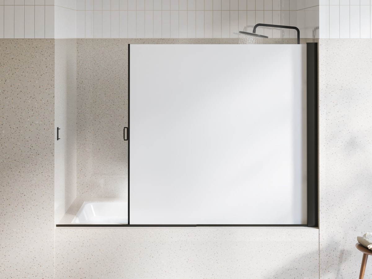 JoyFous retractable rolling shower screen maximizes space and keeps showers mildew-free