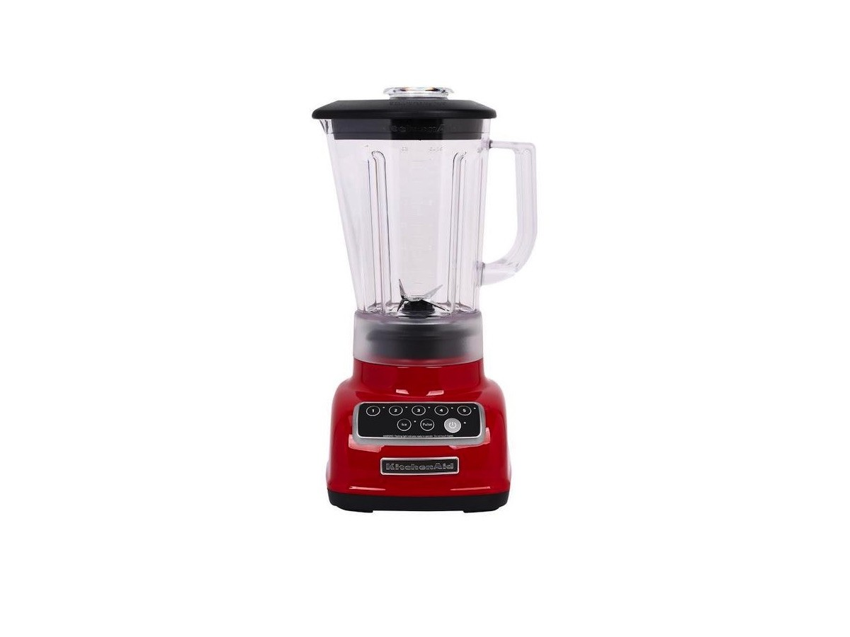 KitchenAid KSB1570ER 5-Speed Blender holds up to 56 ounces for family-size smoothies