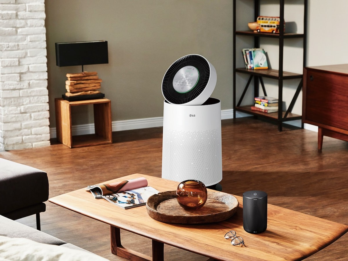 LG PuriCare 360° SmartThinQ air purifier cleans the air in rooms up to 310 square feet