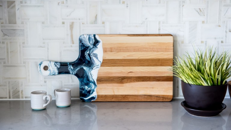 Lynn & Liana Designs Wood Cheese Boards are one-of-a-kind pieces for your home
