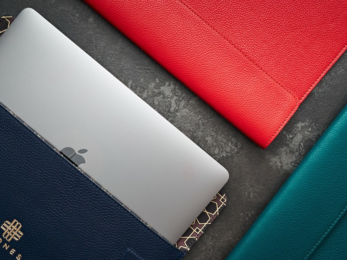Meqnes Leather Laptop Sleeves are handcrafted and lined with Moroccan-inspired patterns