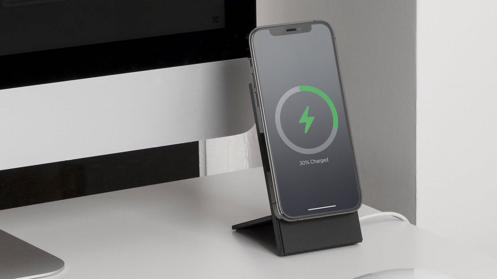 Native Union Rise Dock iPhone 12 charging stand is solid metal and MagSafe compatible