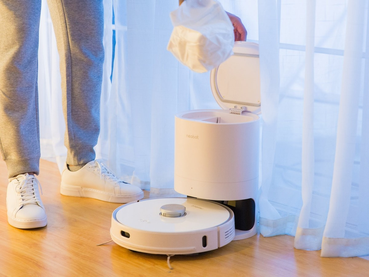Neabot NoMo N1 Plus 2-in-1 robot vacuum mops & vacuums simultaneously for spotless floors