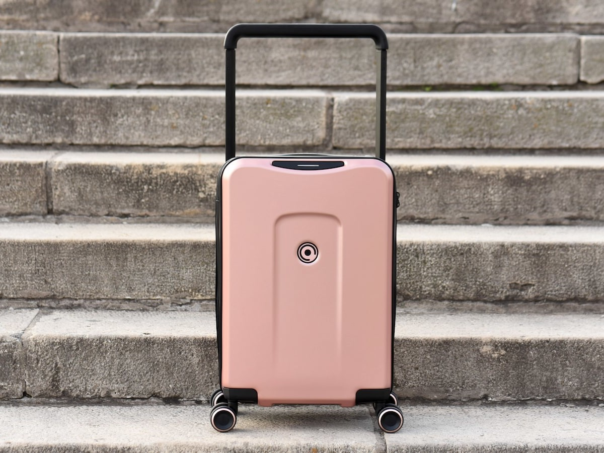 Plevo The Runner smart travel suitcase features weight sensors to prevent overweight fees