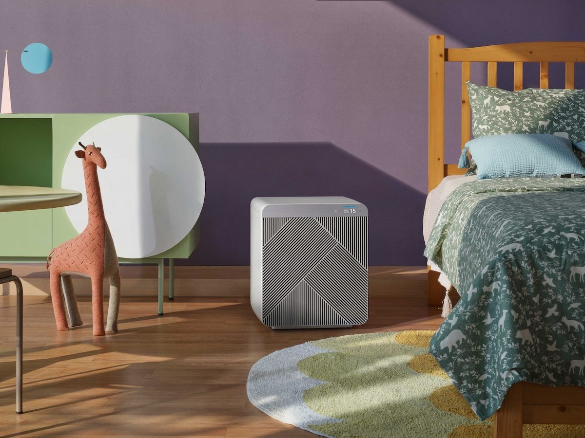 Samsung Bespoke Cube Smart Air Purifier has a quiet Wind-Free design and an extra filter