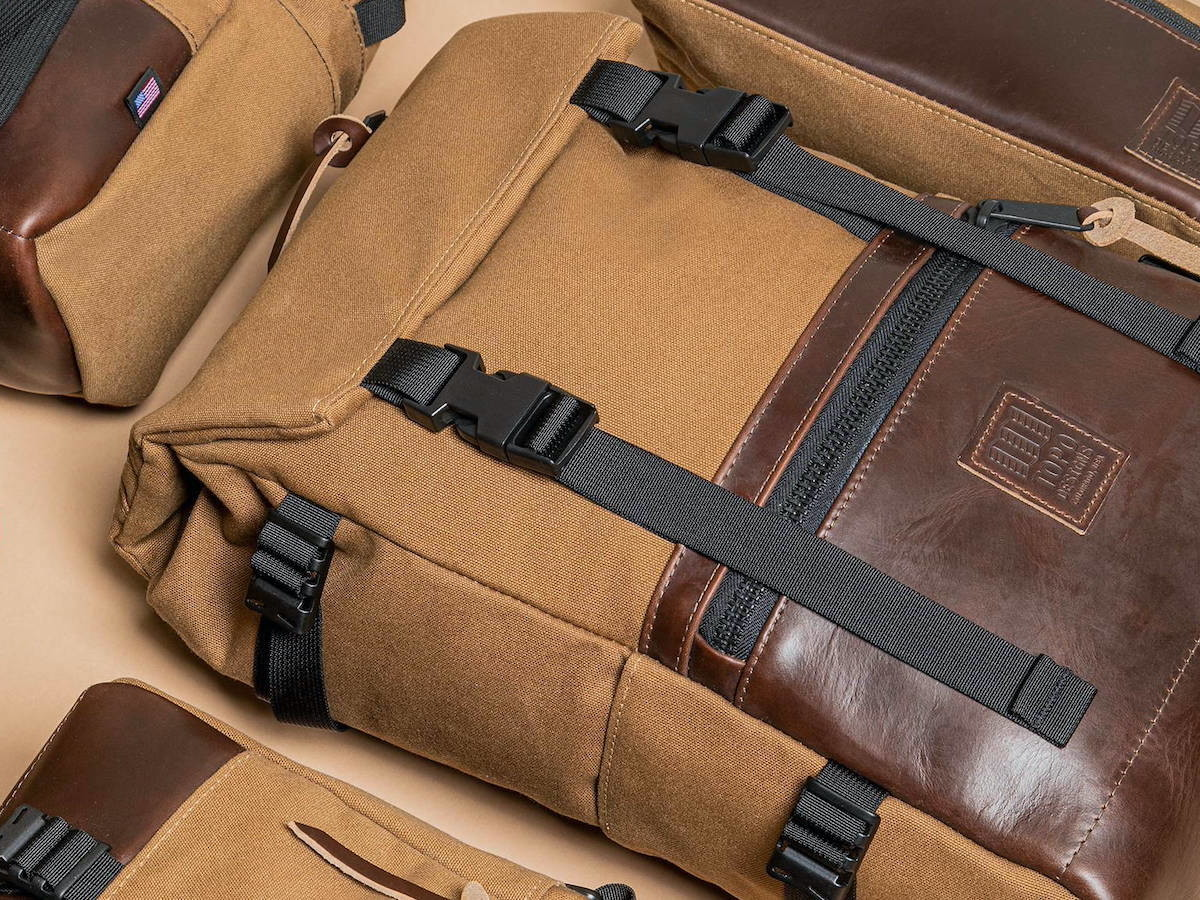 Topo Designs Rover Pack Heritage Canvas mountain backpack features a water-resistant upper thumbnail