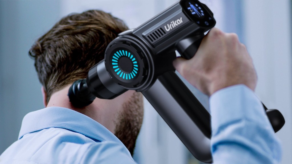 This smart AI-powered massage gun is the thoughtful gift to buy your dad for Father's Day Urikar AT1 Massage Gun