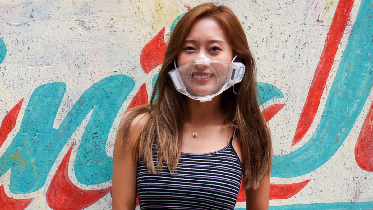 This clear face mask makes breathing easier and lets you show off your pretty smile
