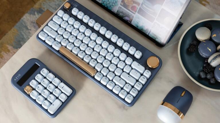 AZIO IZO intuitive wireless keyboard set offers wired & wireless setups for Mac & Windows