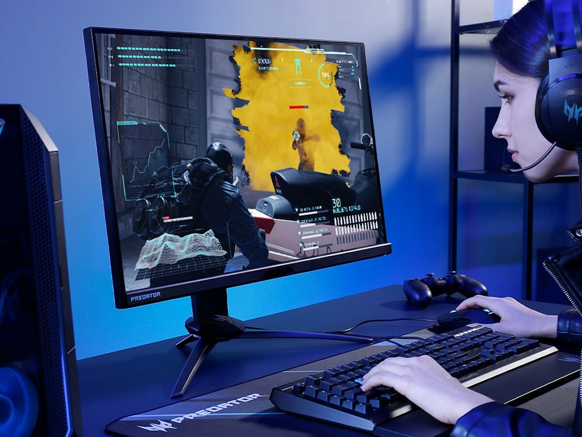 Acer Predator X25 gaming monitor has a 350 Hz refresh rate with a 0.3 ms GtG response