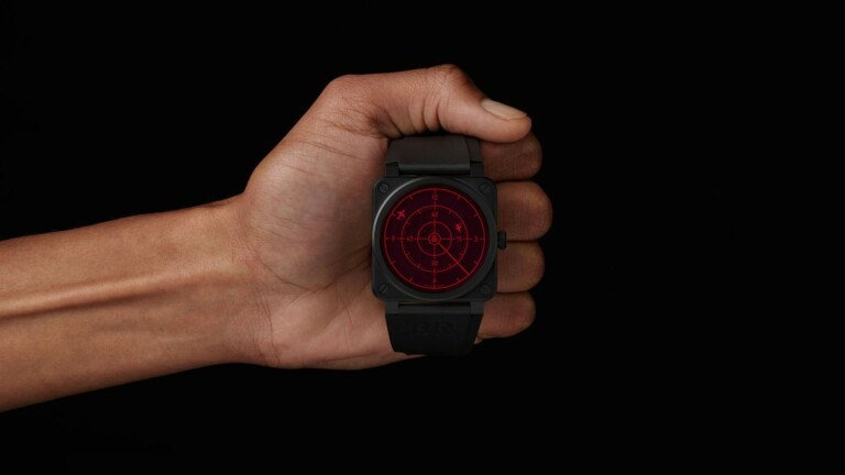 Bell & Ross Red Radar Ceramic aviation watch has aircraft-control-inspired graphics