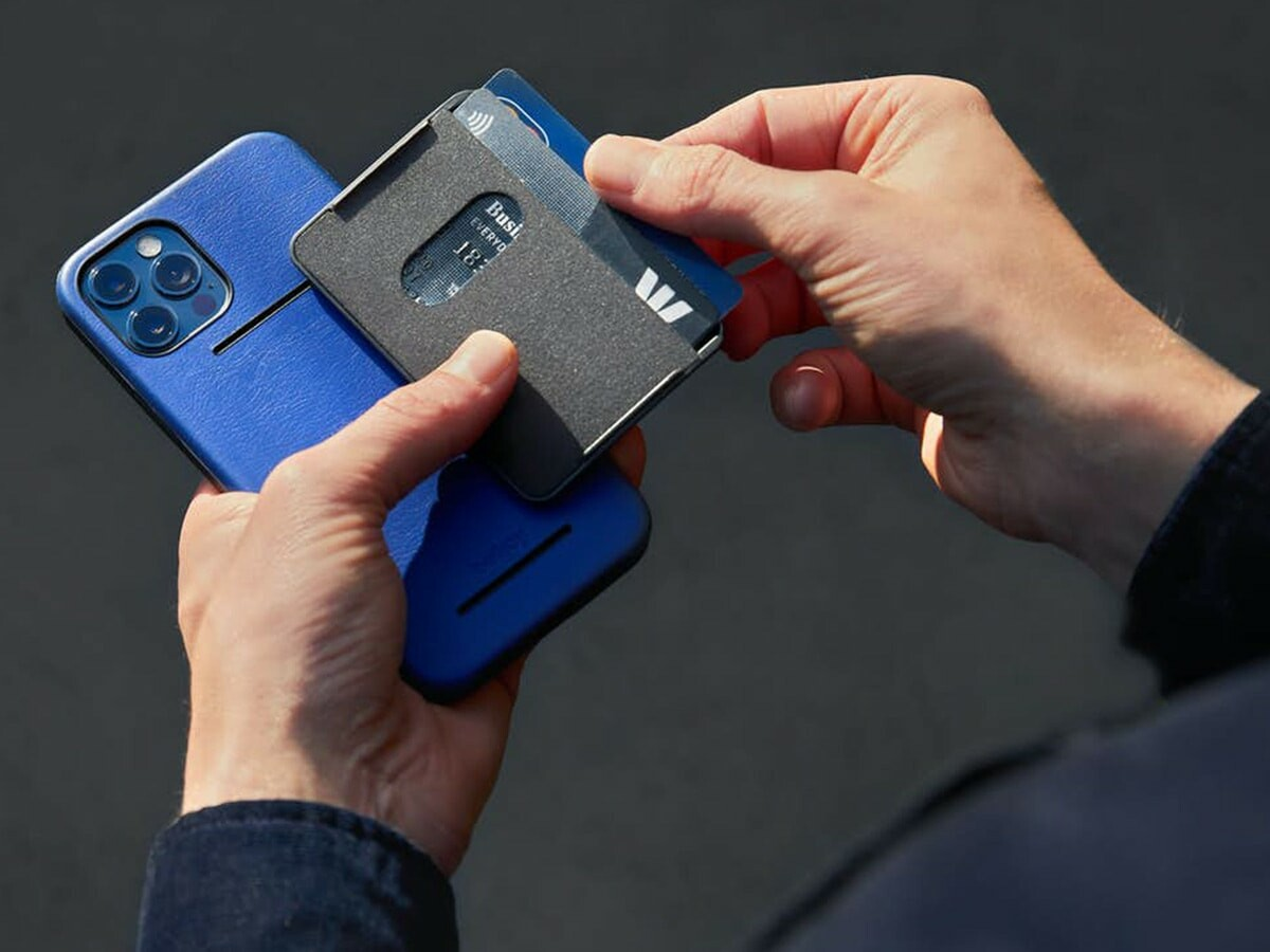 Bellroy Mod Case + Wallet keeps up to three cards snapped to your iPhone 12 case