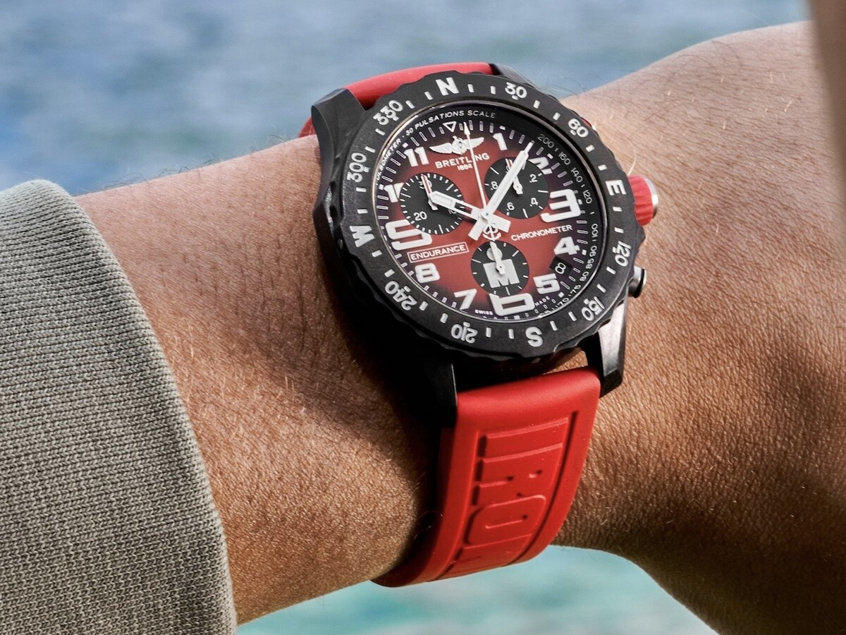 Breitling Endurance Pro IRONMAN edition watch is durable enough for a sporty lifestyle