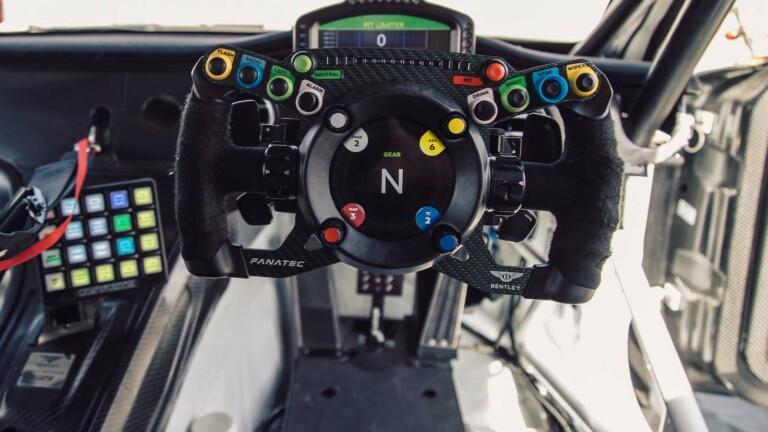 "Fanatec Bentley GT3 podium steering wheel has a 3.4"" display for real & sim racing"