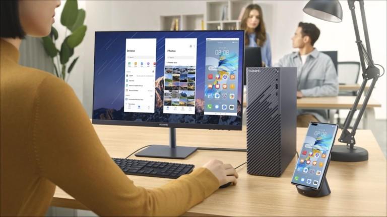 HUAWEI MateStation S desktop computer has a small form factor and an AMD Ryzen 5 4600G CPU