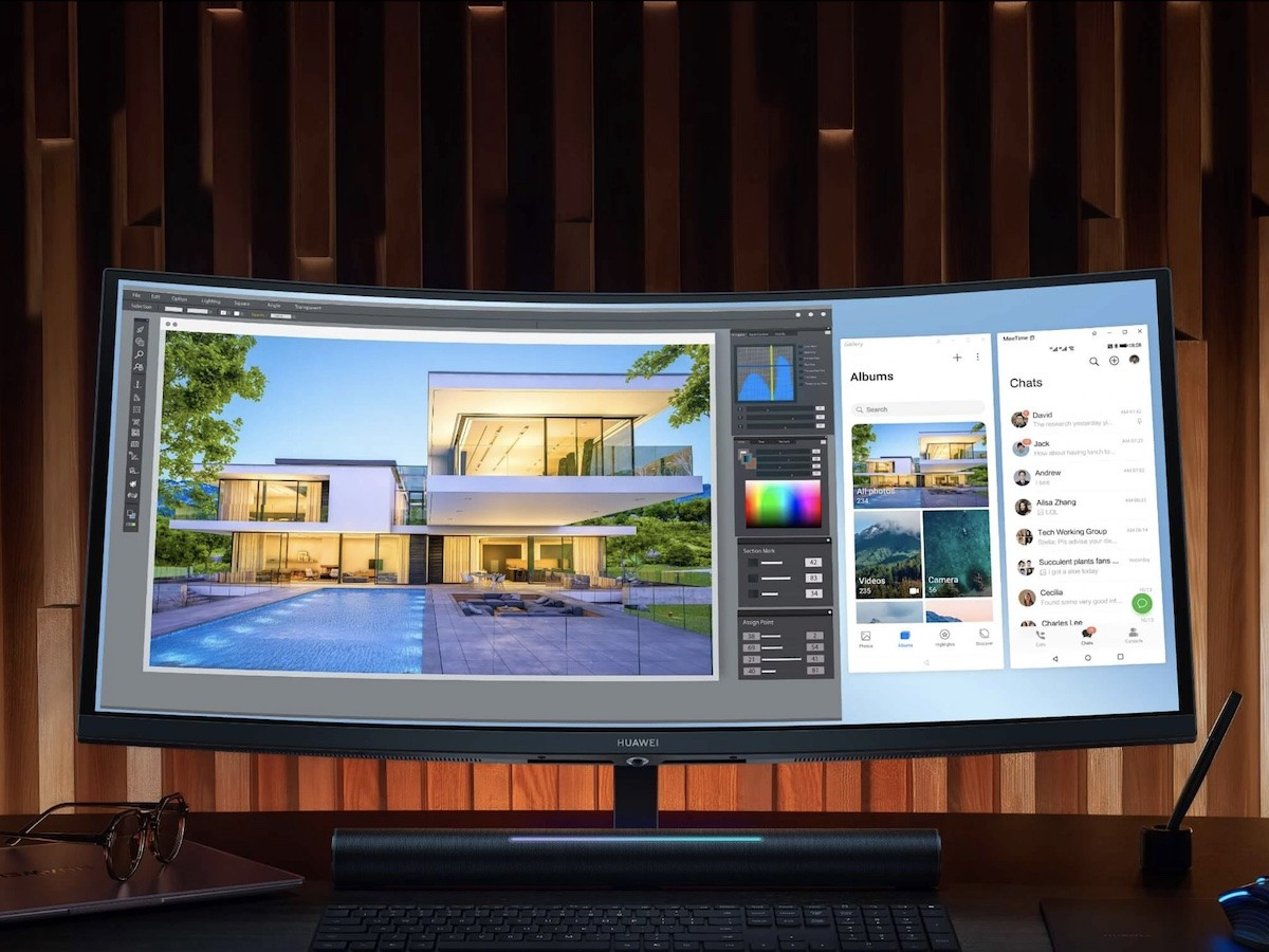 HUAWEI MateView GT ultrawide high-refresh monitor measures 34″ and has a 3K 165 Hz display