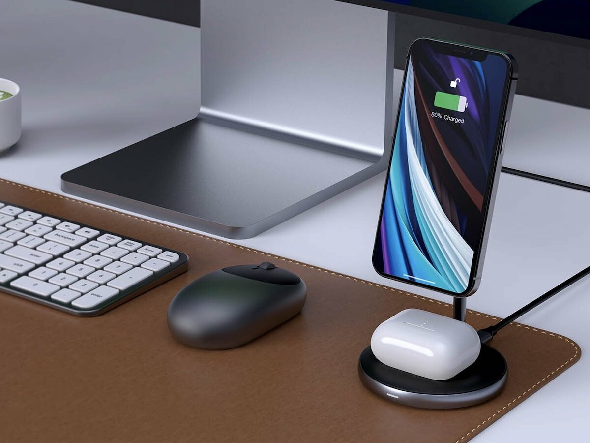 HYPER HyperJuice Magnetic Wireless Charging Stand powers your iPhone 12 and AirPods