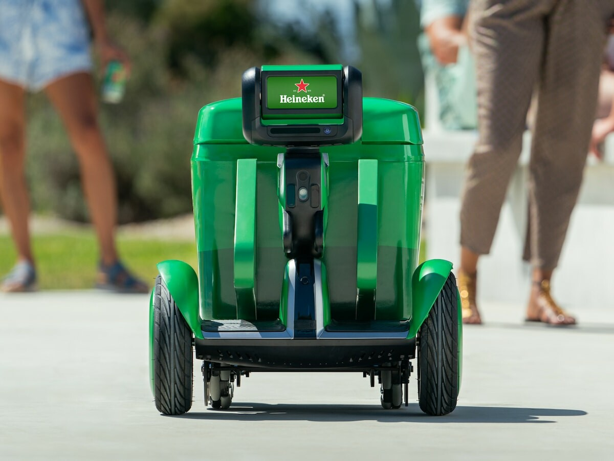 Heineken B.O.T. beer delivery robot follows you (almost) anywhere to keep you refreshed