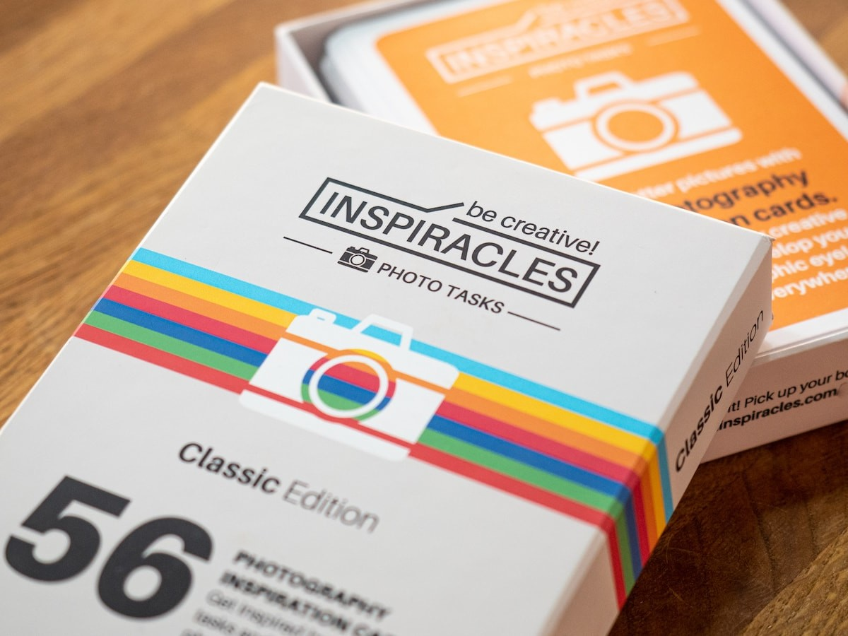 Inspiracles photography inspiration cards give you all kinds of different photo ideas