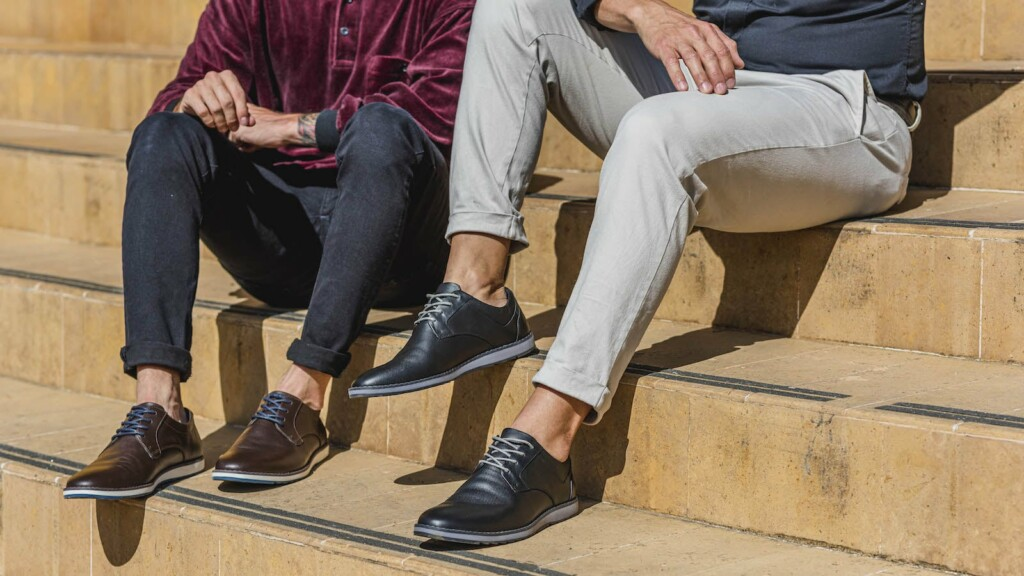 This versatile leather footwear is super comfortable and looks like dress shoes John Candor Shoes cross-occasional footwear