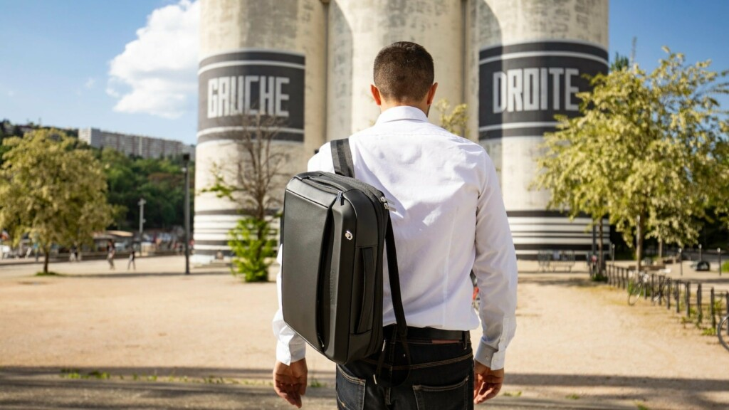 This fingerprint-locked trunk and expandable backpack make travel easier and more secure KABUTO Luggage Trunk x Backpack