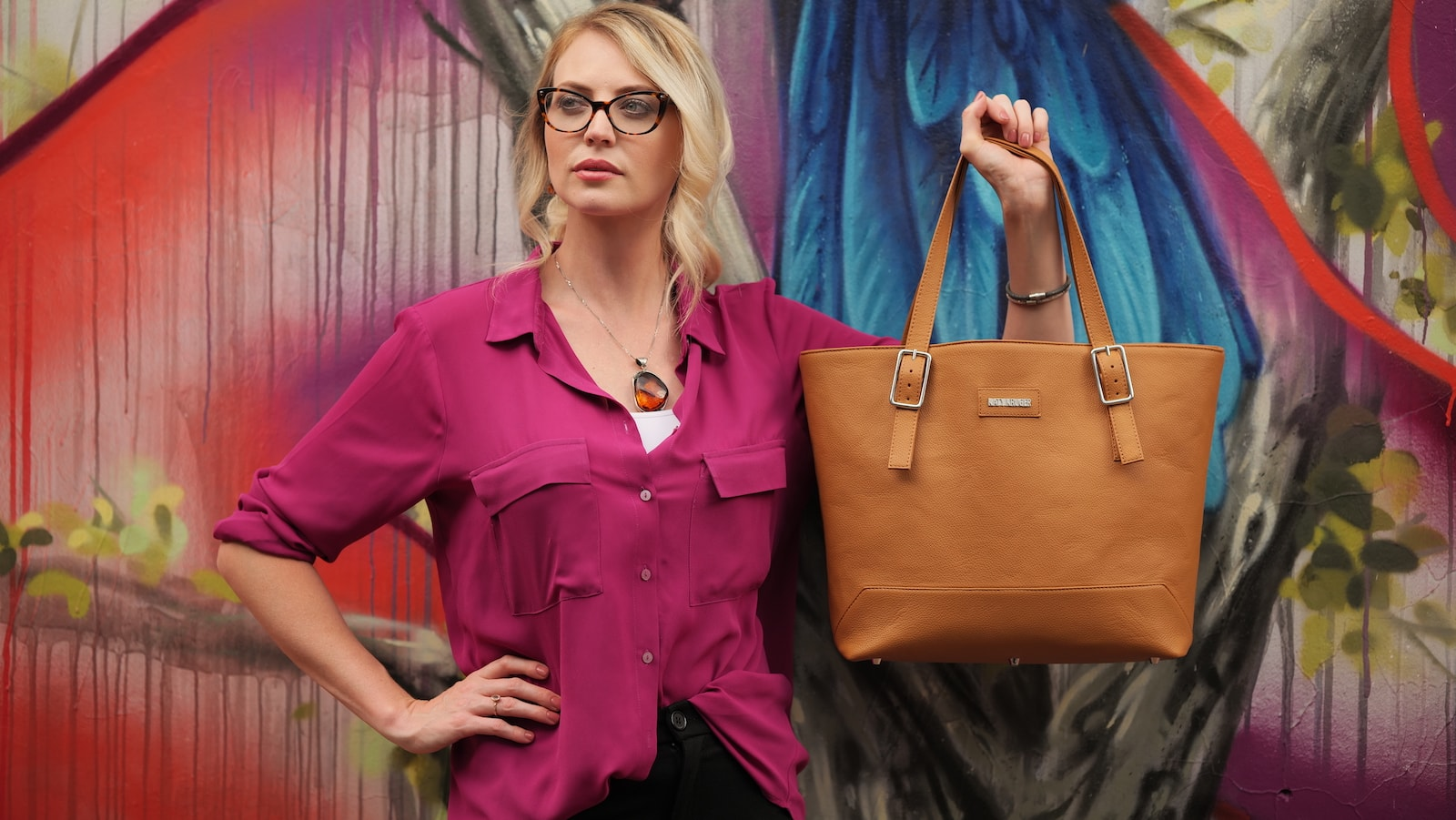 Katy Kruger Vegan Leather 2-in-1 Bag offers practical versatility with a tailored look