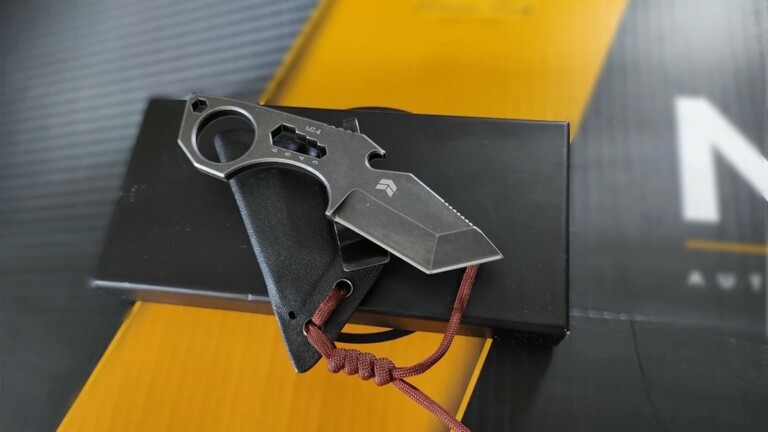 MT-4 EDC multitool incorporates a strong blade, sheath, pocket clip, and screwdriver
