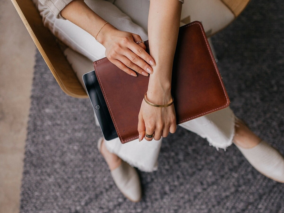 Mission Leather Co Leather Vertical iPad Sleeve is handcrafted for a durable design
