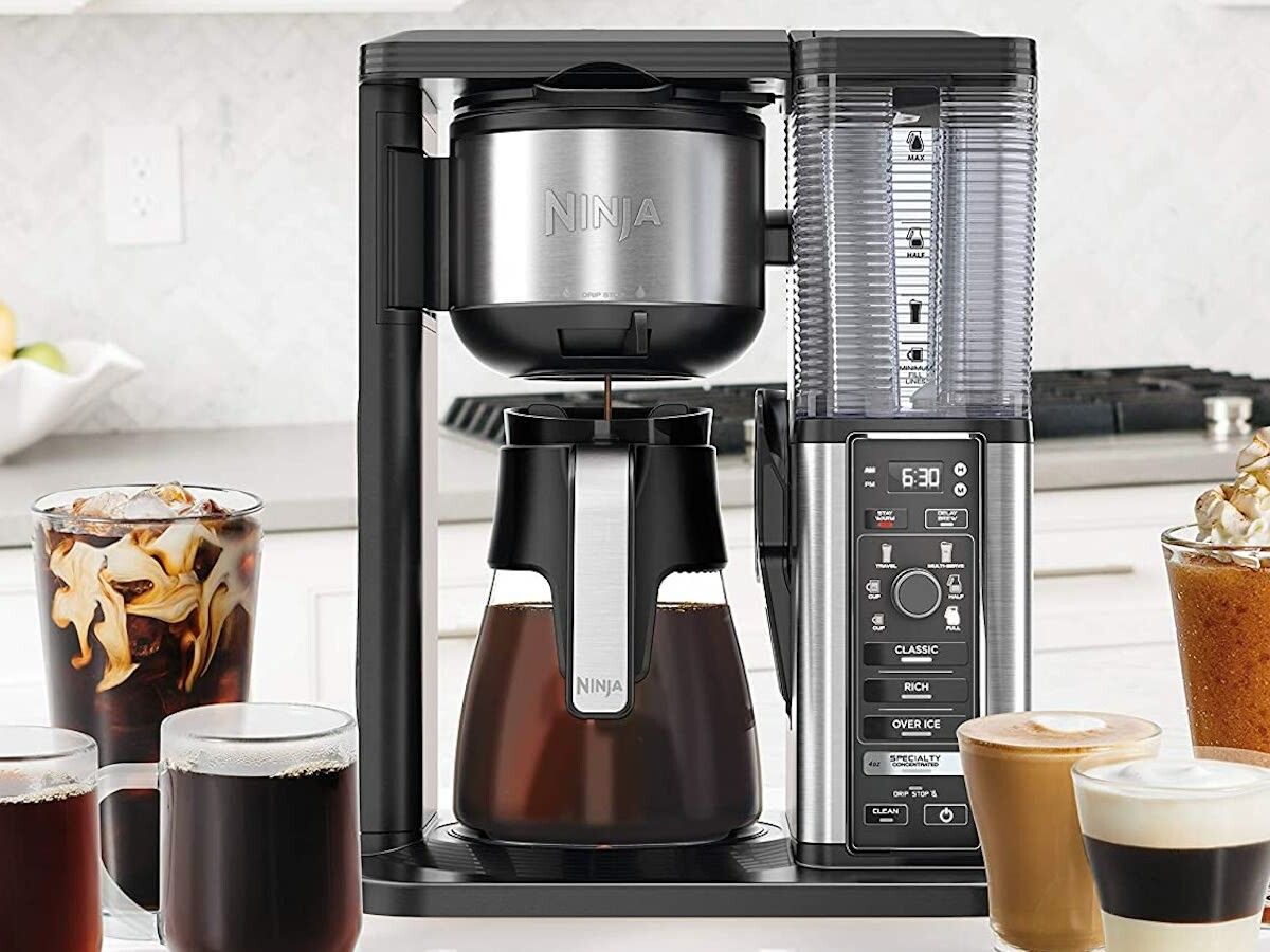 Ninja Specialty Coffee Maker brews super-rich coffee concentrate for delicious drinks