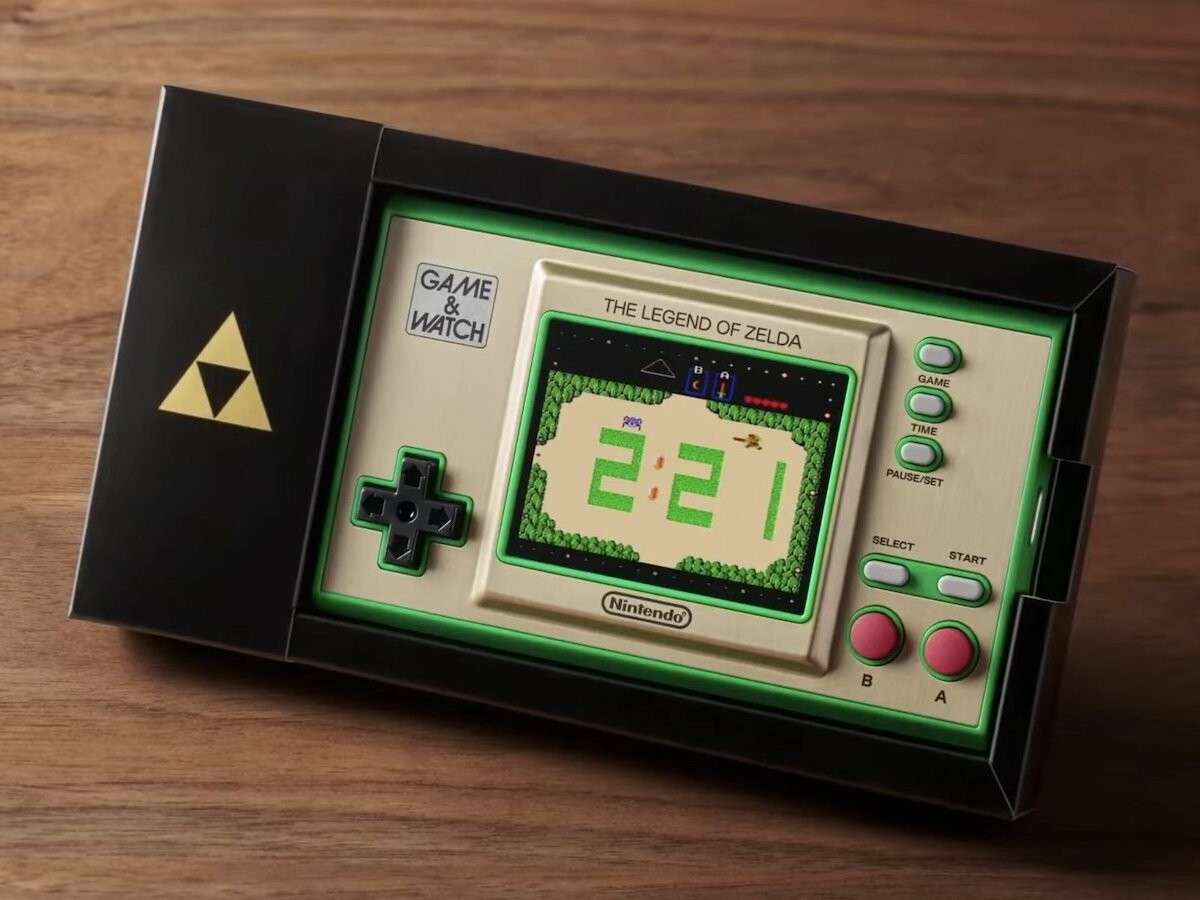 Nintendo Game & Watch: The Legend of Zelda collectible system has a classic retro look