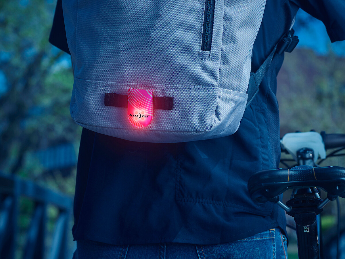 Nite Ize TagLit wearable LED marker improves your visibility when you're out at night