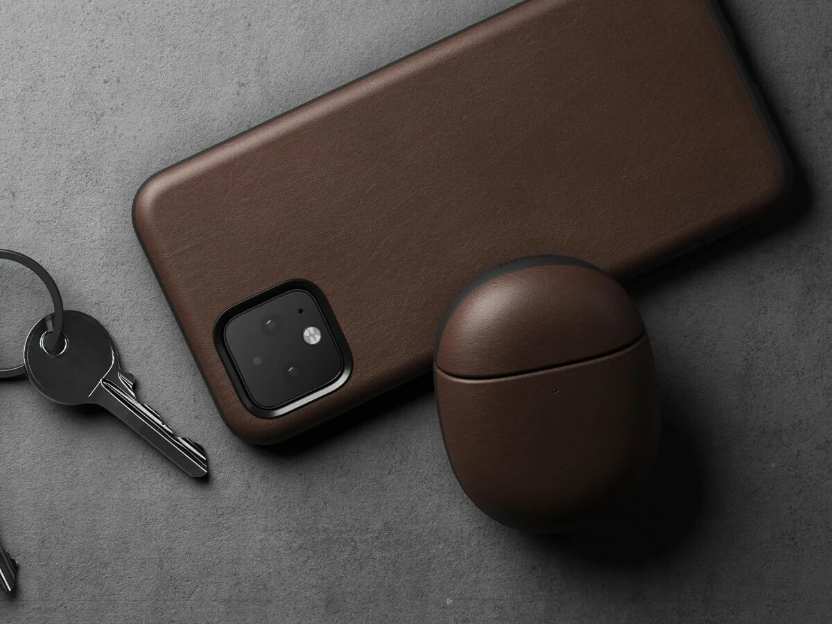 Nomad Rugged Case for Pixel Buds A-Series has a tight-fitting two-piece construction