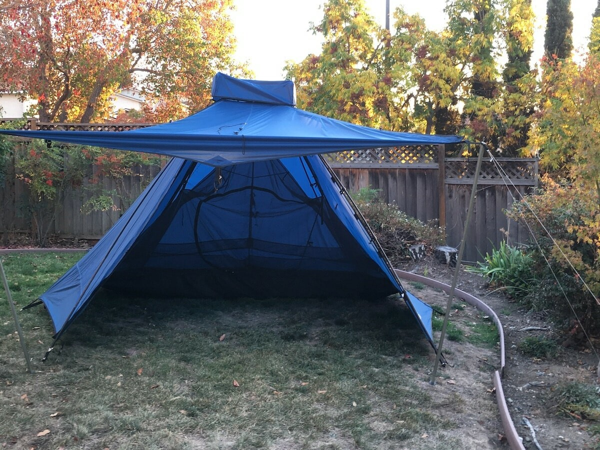 Outdoor Innovations The Pathfinder versatile tent has plenty of room for up to 6 people