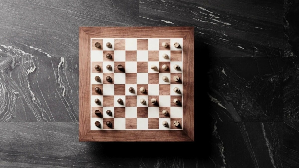 This beautiful robotic wooden chessboard works with both in-person and online games