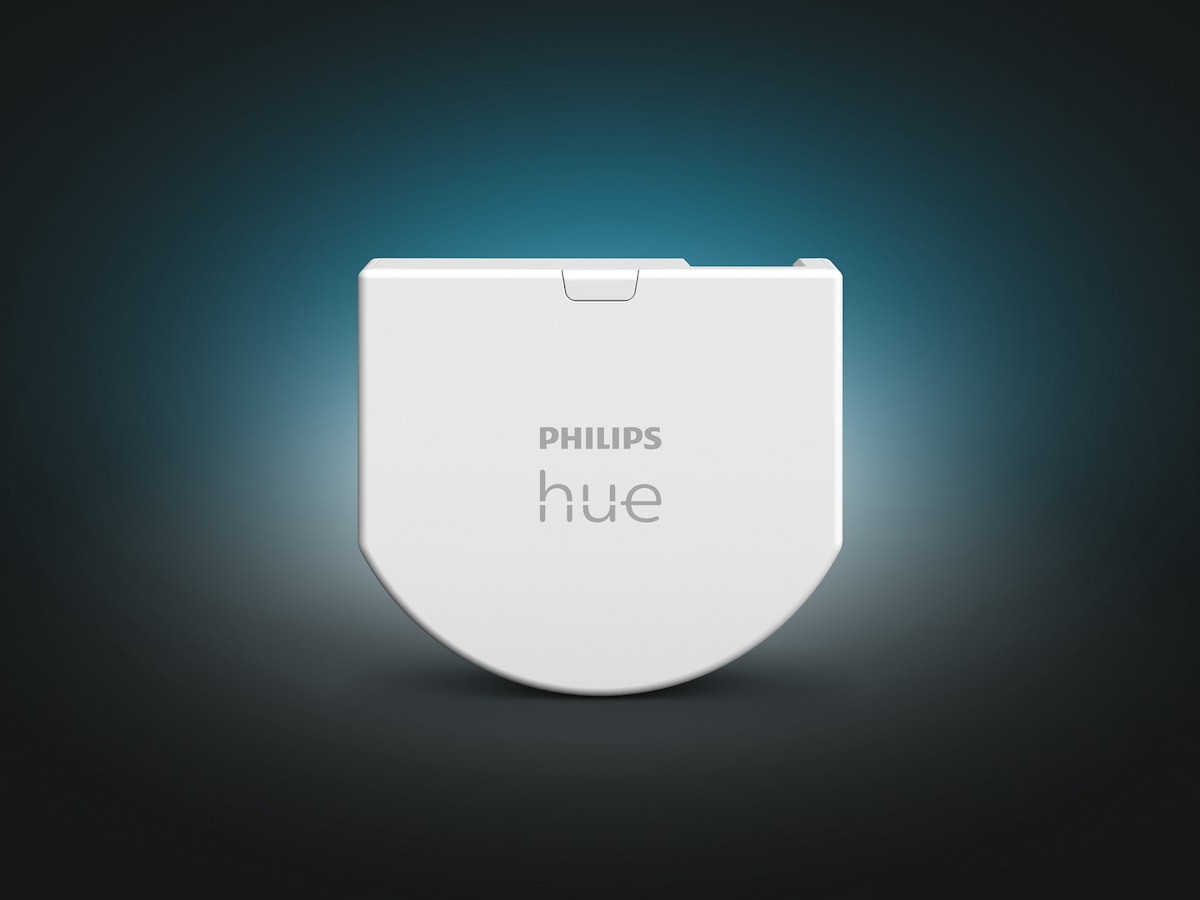 Philips Hue Wall Switch Module installs discreetly behind your existing light switch