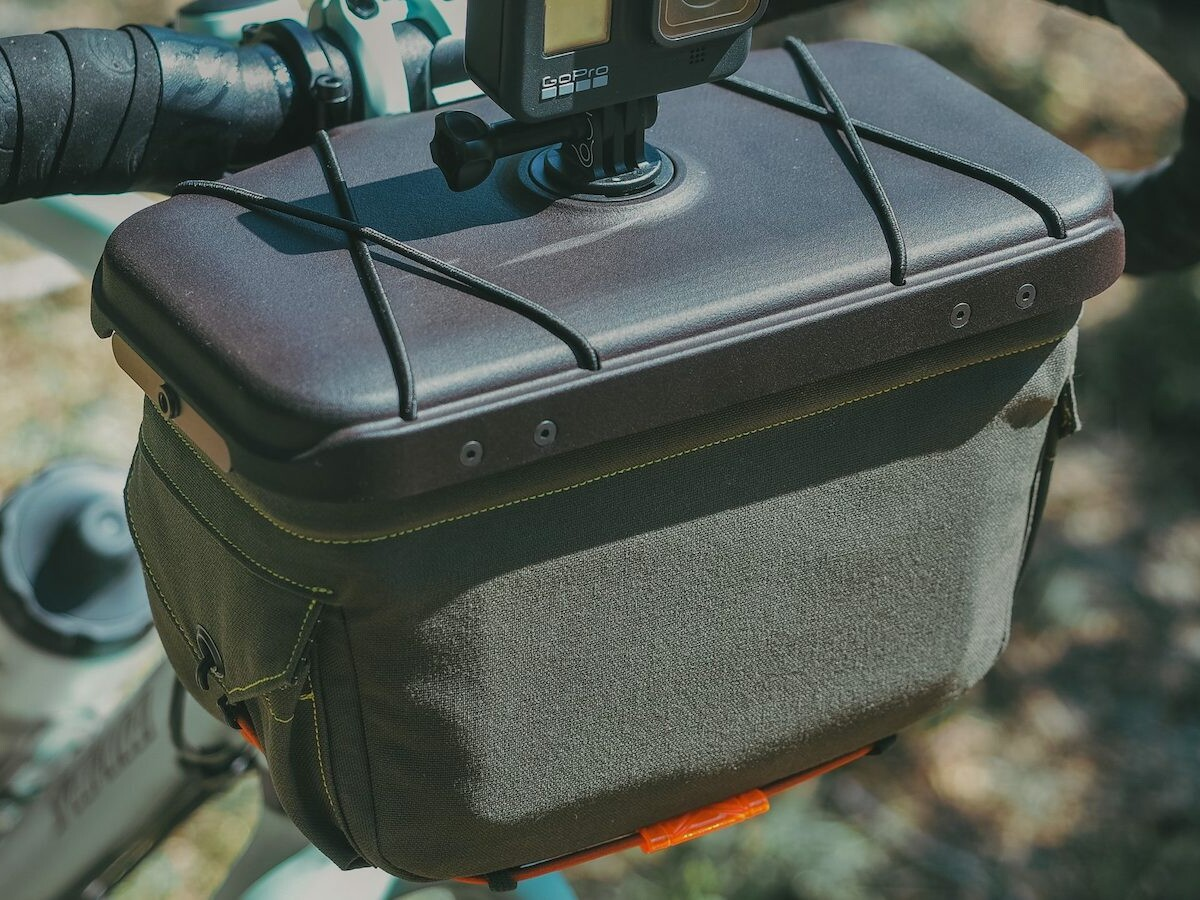 Route Werks The Handlebar Bag for bikes gives you quick access to expandable storage