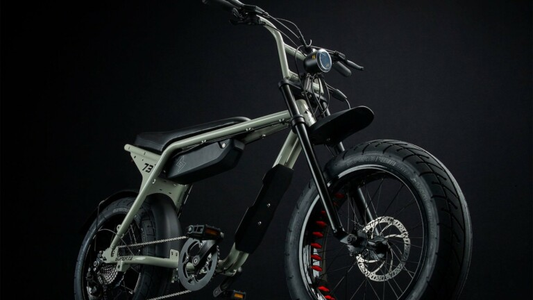 SUPER73-ZX aluminum eBike features a light aluminum alloy frame and a removable battery
